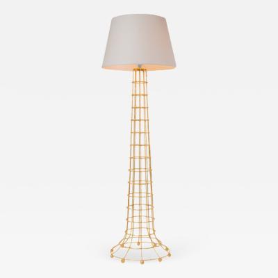 Fisher Weisman Gilded Cage Floor Lamp