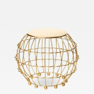 Fisher Weisman Gilded Cage Side Table Stool