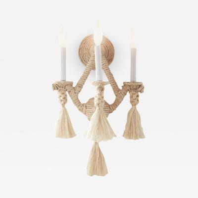 Fisher Weisman Rope Sconce
