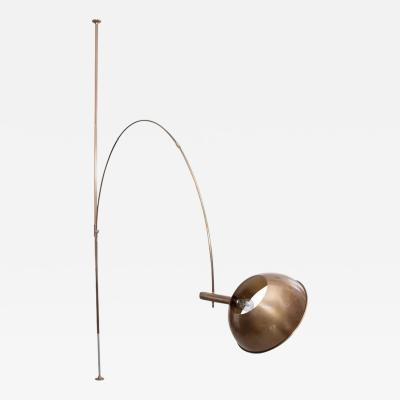 Florian Schulz Ceiling to Floor Lamp by Florian Schulz with Adjustable Arc Germany 1970s