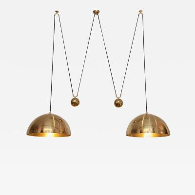 Florian Schulz Florian Schulz Double Posa Brass Pendant Lamp with Side Counter Weights