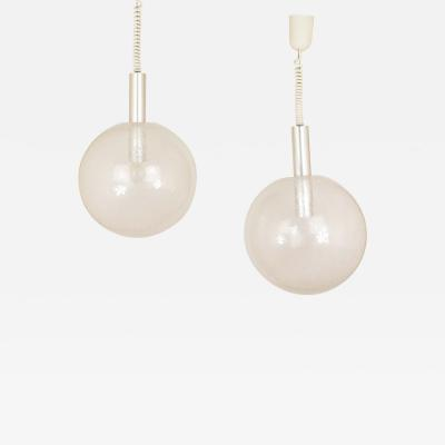 Flos A pair of Sfera pendants by Afra Tobia Scarpa for Flos 1960s