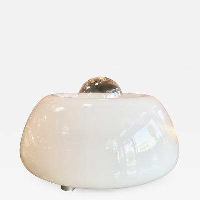 Flos Flos White Hand Blown Murano Glass Table Lamp Italy Space Age