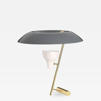Flos Gino Sarfatti Model 548 Table Lamp in Gray Polished Brass