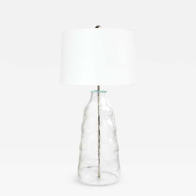 Flygsfors A LARGE CLEAR GLASS LAMP BY FLYGSFORS SWEDEN