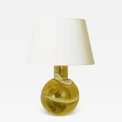 Flygsfors Mod Swedish Table Lamp in Gold Mirrored Glass