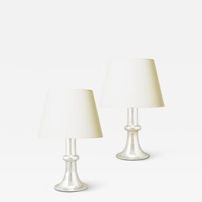 Flygsfors Pair of Mod Table Lamps in Mirrored Glass by Flygsfors