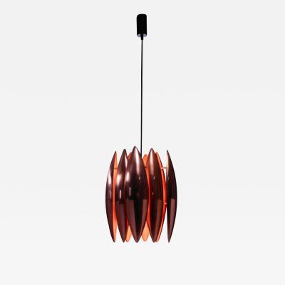 Fog M rup Copper Kastor Pendant by Jo Hammerborg for Fog M rup Denmark 1960s
