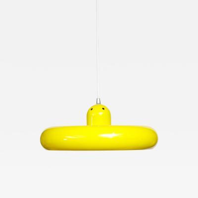 Fog M rup Danish Yellow Mid Century UFO Light 1960s