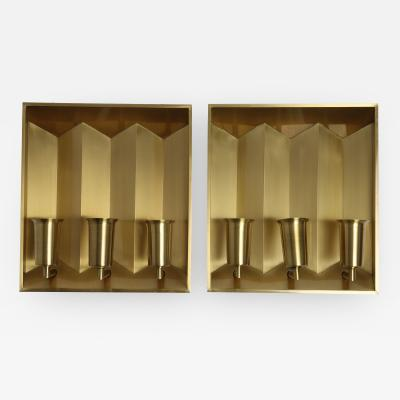 Fog M rup Fog Morup Brass Wall Lamps Pair