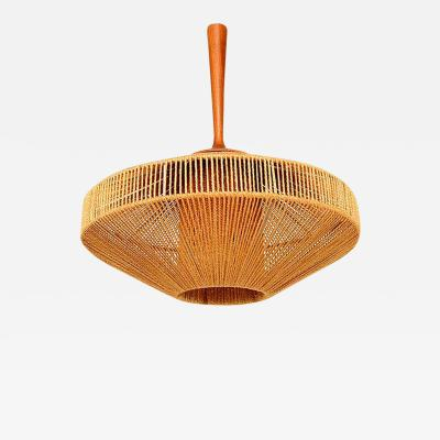 Fog M rup Scandinavian Light Fixture in Teak and Rope Fog Morup