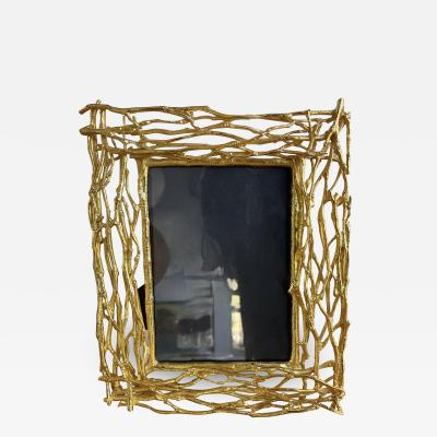 Fondica Gilt Metal Branch Picture Frame Italy 1970s