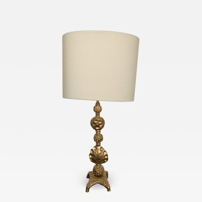 Fondica Gilt Metal Bronze Lamp by Mathias for Fondica France 2000s