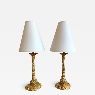 Fondica Pair of Lamps by Mathias for Fondica France 1990s
