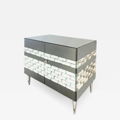 FormA by Gaspare Asaro Nebula Glass Cabinet