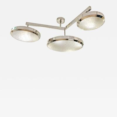 FormA by Gaspare Asaro Zeta Ceiling Light by formA Nickel Edition