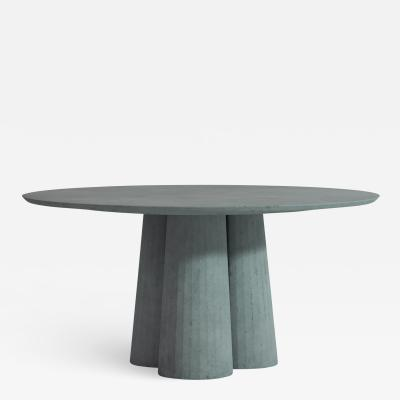 Forma Cemento Fusto Dining Table Round Shape