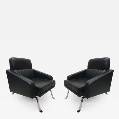 Forma Nova Pair of Italian Midcentury Lounge Chairs Ignazio Gardella Diagramma Style