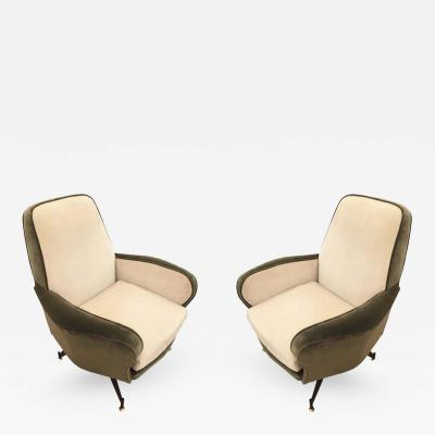 Forma Nova Pair of Lounge Chairs Attributed to Formanova Italy 1960s
