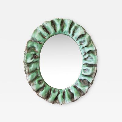 Fornace Farnesiana Mirror with a ceramic frame