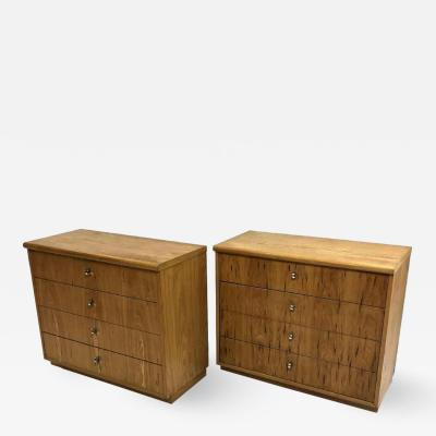 Founders Furniture Company Pair of Founders Mid Century Modern Bachelors Chests Commodes or Nightstands