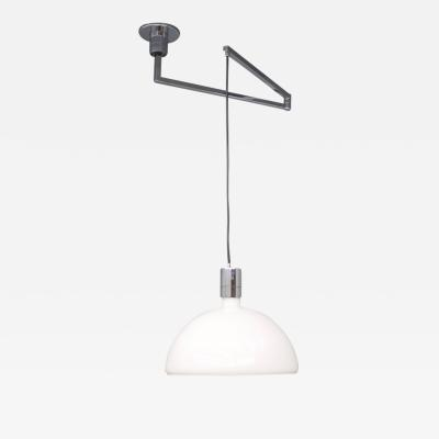 Franco Albini Franca Helg Antonio Piva Sirrah Am as Ceiling Lamp with Swing Arm Glass and Chrome Franco Albini 1960s