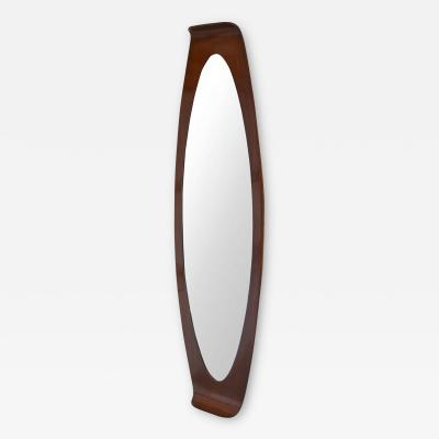 Franco Campo Carlo Graffi Curved Wood Wall Mirror by Campo Graffi