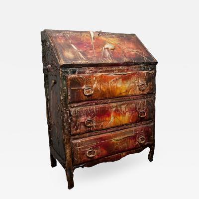Francois Archiguille Francois Archiguille Painted Slant Front Desk Unique Piece