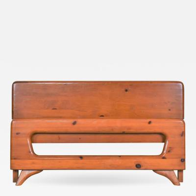 Franklin Shockey Furniture Mid century modern franklin shockey sculpted pine full size bed