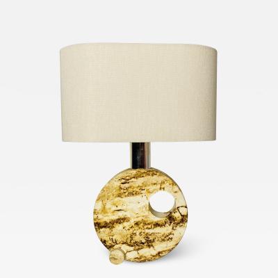 Fratelli Mannelli Travertine table lamp 1970s
