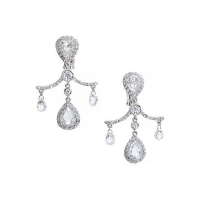 Fred Leighton Fred Leighton Pear Cut Briolette Diamond Platinum Dangle Earrings