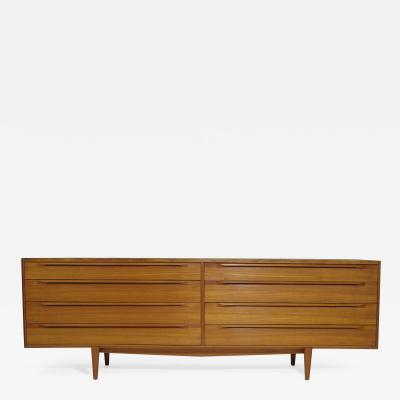 Fredericia Stolefabrik IB Kofod Larsen Teak Eight Drawer Dresser