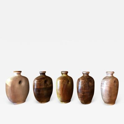 Freres Cloutier Set of Five Glazed Ceramic Gourds