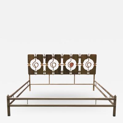 Frigerio Di Desio Brass double bed by Frigerio di Desio 1960s