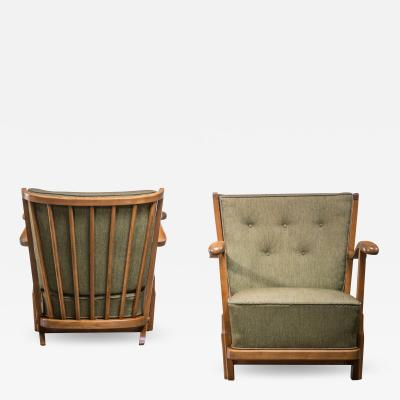 Frits Schlegel Pair of Fritz hansen model 1594 armchairs