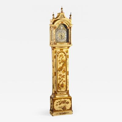 G Sergeant Antiques White Lacquered Chinoiserie Tall Clock Robert Player London active 1700 1740