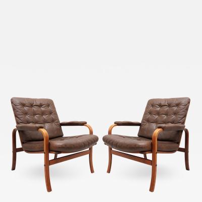 G te M bler N ssj Swedish Bentwood Leather Chairs by G te M bler N ssj