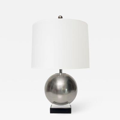 GAB Guldsmedsaktiebolaget Swedish Art Deco Globe Lamp on Plinth by G A B