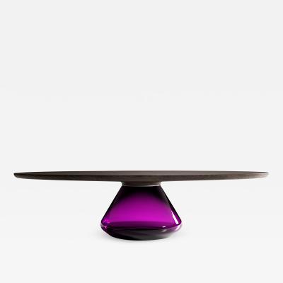 GRZEGORZ MAJKA LTD Charoite Eclipse Contemporary Coffee Table