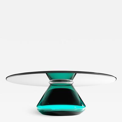GRZEGORZ MAJKA LTD Emerald Eclipse II Contemporary Coffee Table