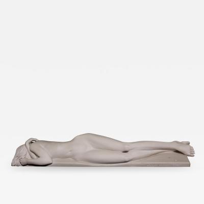 GRZEGORZ MAJKA LTD LETHARGY Phase I Hand Crafted White Polished Marble Sculpture