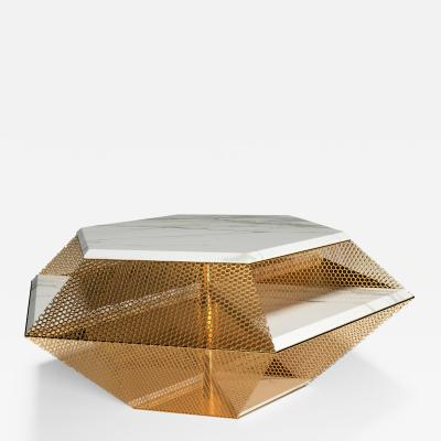 GRZEGORZ MAJKA LTD The Rough Diamond Modern Sculptured Calacatta Coffee Table
