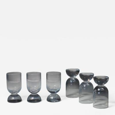 Gabbianelli Set of Six Murano Glasses by Ennio Lucini for Gabbianelli