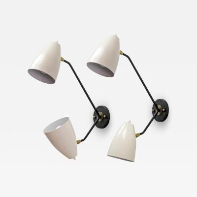 Gallery L7 Double Arm Brass Wall Lights L3GG by Gallery L7