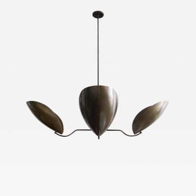 Gallery L7 Four Arm Raw Brass Chandelier Chiton