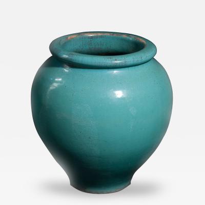 Galloway Terracotta Company Blue Green Glazed Urn by Galloway Terracotta Company