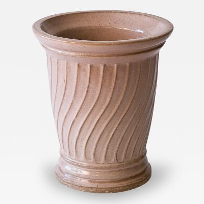 Galloway Terracotta Company Rare Glazed Buff Colored Galloway Pot