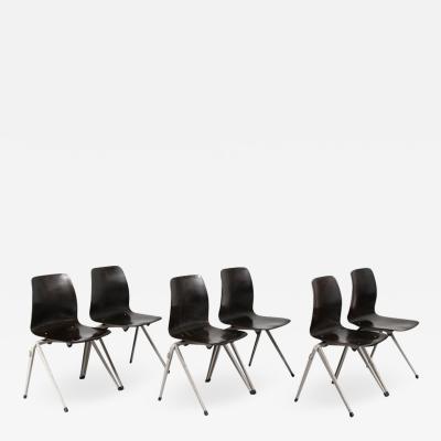 Galvanitas Large Stock of Galvanitas S22 Stackable Dining Chairs circa 1970