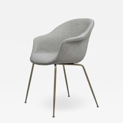 GamFratesi Design Studio GamFratesi Bat Dining Chair in Grey with Antique Brass Conic Base