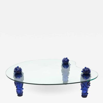 Garouste Bonetti Large signed resin glass coffee table by Garouste Bonetti 1990s